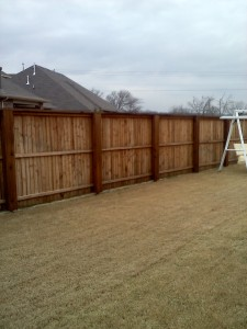 Fence Staining BEFORE