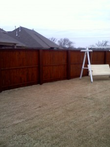 Fence Staining AFTER by Hahn Painting Services